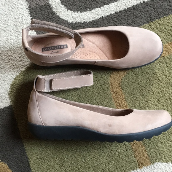 Clarks Collection Ankle Strap Flats